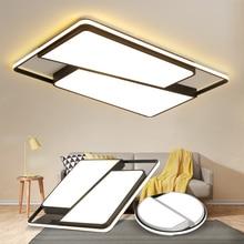 עגול/מרובע LED תקרת אורות סלון אורות חדר שינה בית לבן ושחור ברזל + אקריליק מודרני Led תקרת מנורת מתקן