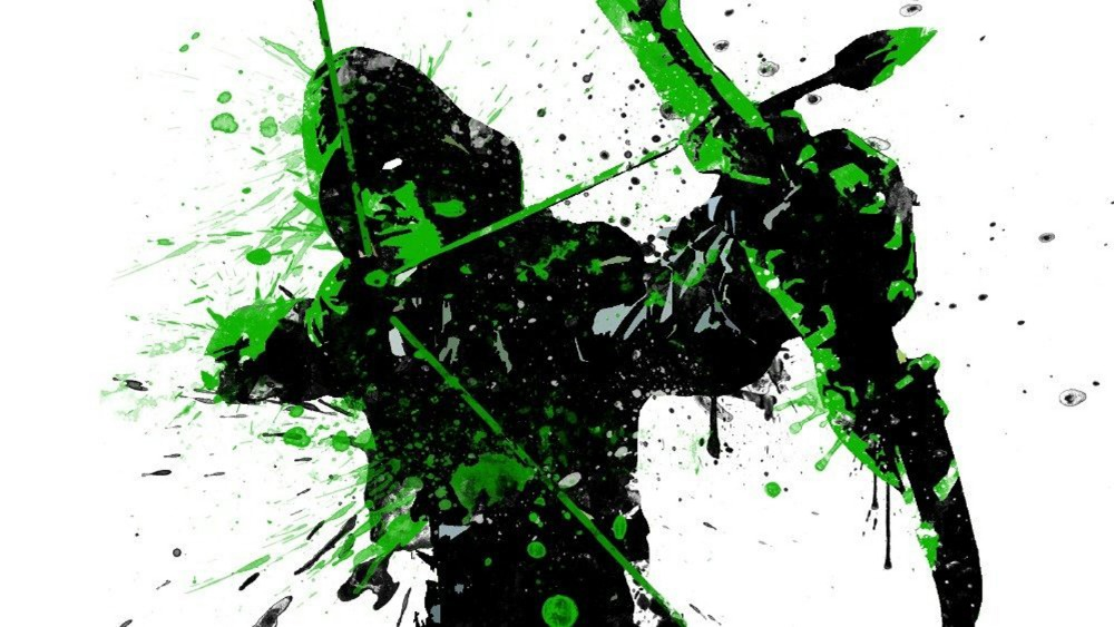 bruce queen green arrow using superhero comedy hand drawn artistic