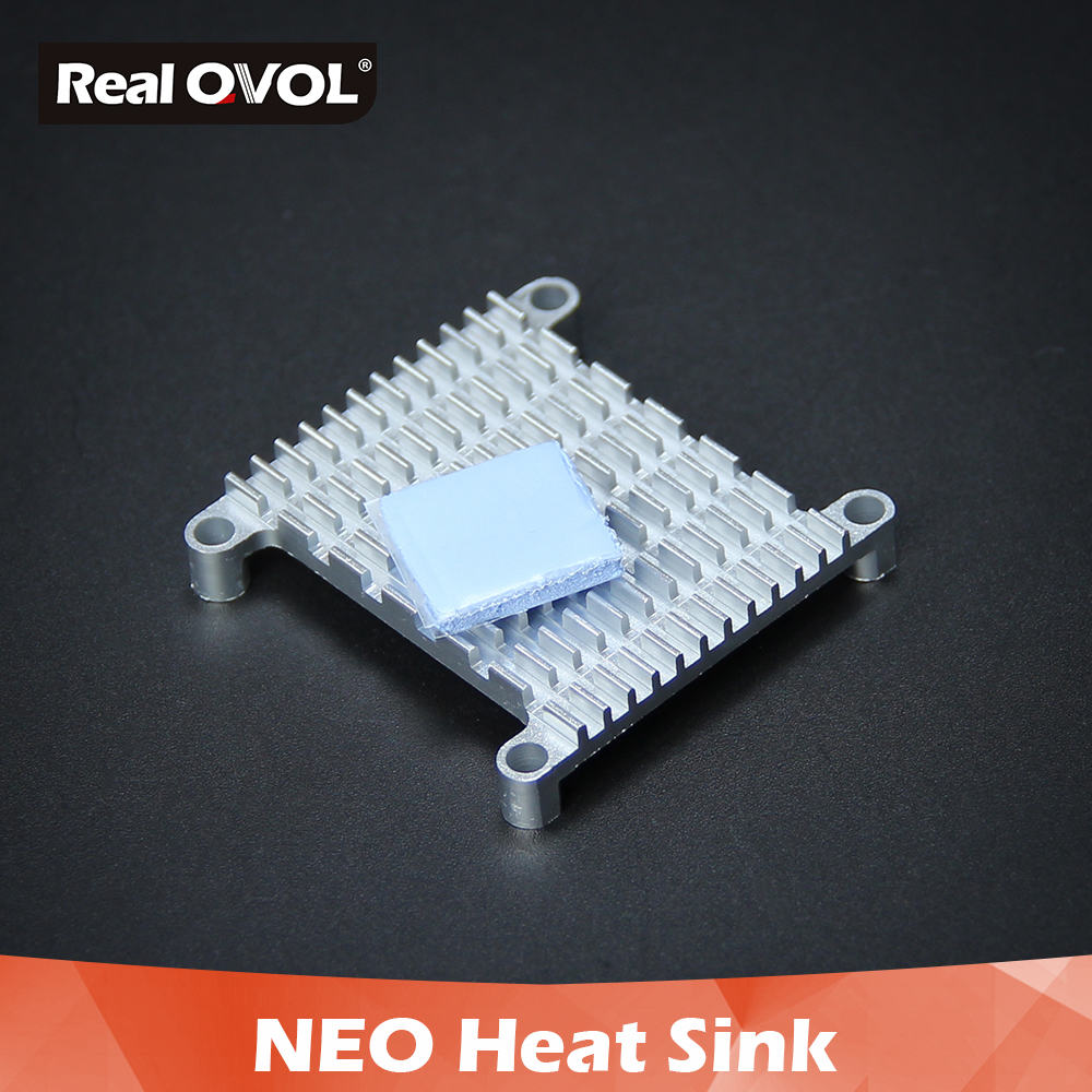 RealQvol NanoPi NEO/NEO Air/NEO 2/Core/Core2/NEO Plus2 Aluminum Heat Sink with Thermal paste and Screw pitch 35.4*35.4 neo 2