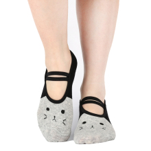 Sports girl Yoga Pilates Socks Cute Cat Grip Sox Fitness Non Skid Foot Cotton Socken Dance Slippers Ballet