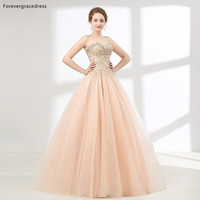 Forevergracedress Pink Color Quinceanera Dresses Ball Gown Beaded Crystals With Lace Up Back Formal Party Gowns Plus Size