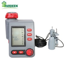 Solenoid Valve Water Timer Large Screen Digital Irrigation Timer Garden Watering Timer Automatic Controller with Rain