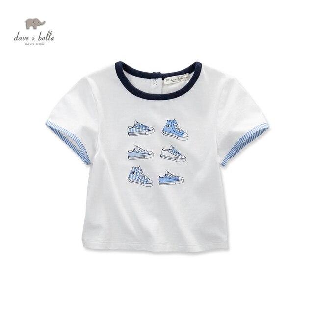DB3555 дэйв белла летний мальчик напечатаны мальчик хлопка майка детская одежда ковылять тройники мальчики топы дети футболку
