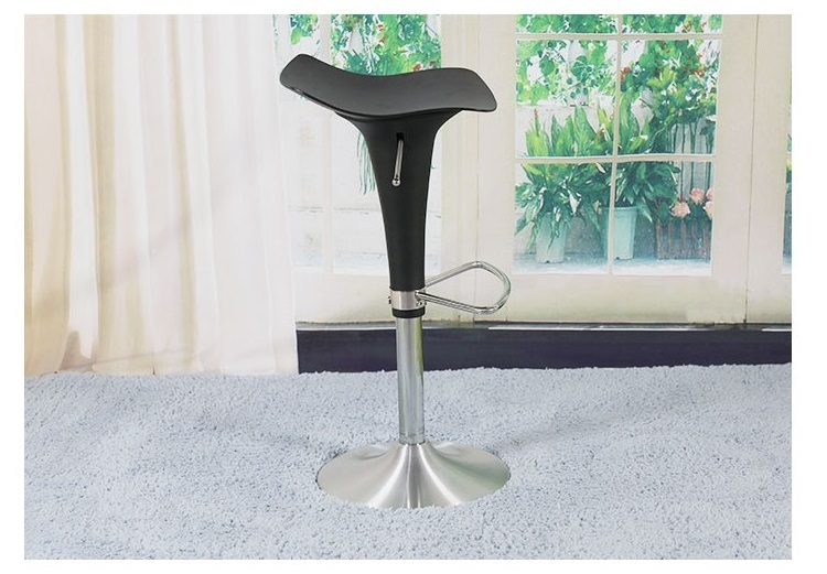 Southeast Asia fashion bar stool aluminum alloy seat coffee house bar chair black color free shipping