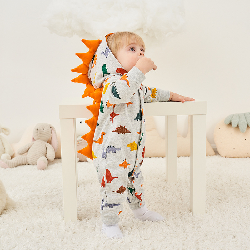 Kids Dinosaur Animal Pajama Onesie Baby   Romper   Costume Long Sleeve for Boy Girl Winter Autumn Jumpsuit Toddlers Cosplay Outfit