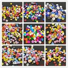 100 шт, цветные, 100 шт, смешанные, 2 отверстия, смола, милые, супер, мини пуговицы, для шитья, круглые, Декор, изготовление открыток, сделай сам, милые, для домашнего декора, инструменты
