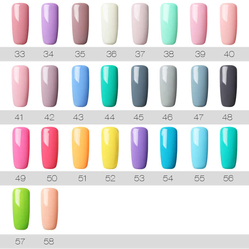 Rosalind 7 Ml Uv Gel per Unghie Nail Polish Set per Manicure Gellak Semi Permanente Hybrid Nails Art Off Prime Bianco smalto di Chiodo Del Gel