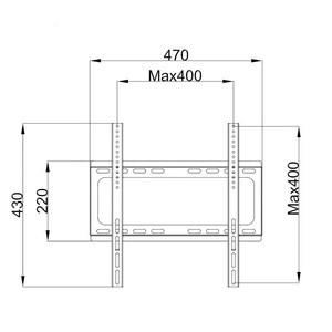 Image 5 - Soporte de montaje en pared Universal para TV, para la mayoría de soportes de TV LED de Plasma de 26 55 pulgadas de hasta VESA 400x400mm y 110 LBS de capacidad de carga