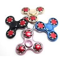 Wholesale 20Pcs Lot EMS Free Shipping 18 Bead Hand Finger Spinner Fidget Metal Bearing Autism ADHD