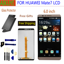 For Huawei Mate7 Mate 7 LCD display touch screen Digitizer panel Assembly Replacement Parts 6.0 mate7 LCD inch with Frame replacement new lcd display touch screen assembly for huawei mediapad t2 7 0 lte bgo dl09 black 7 inch