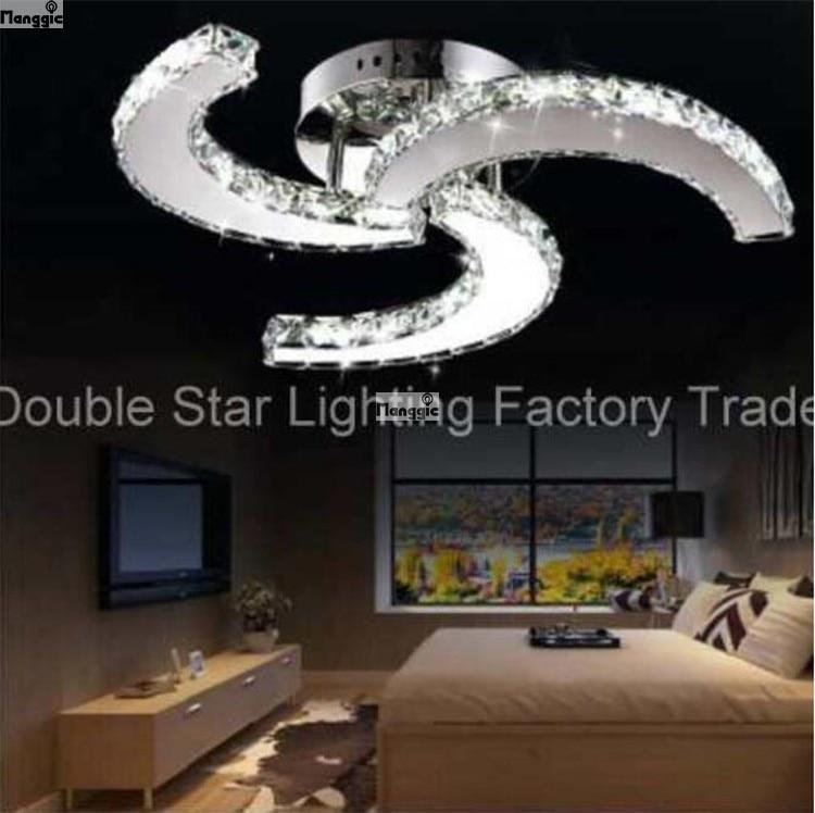 new led modern lustre led crystal lights for living room bed room study room home decorative