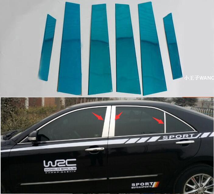 Автомобиль Стайлинг для Toyota Camry 2007 2008 2009 2010 2011 6 шт. комплект дверей комплект Нержавеющаясталь Chrome Pillar сообщений