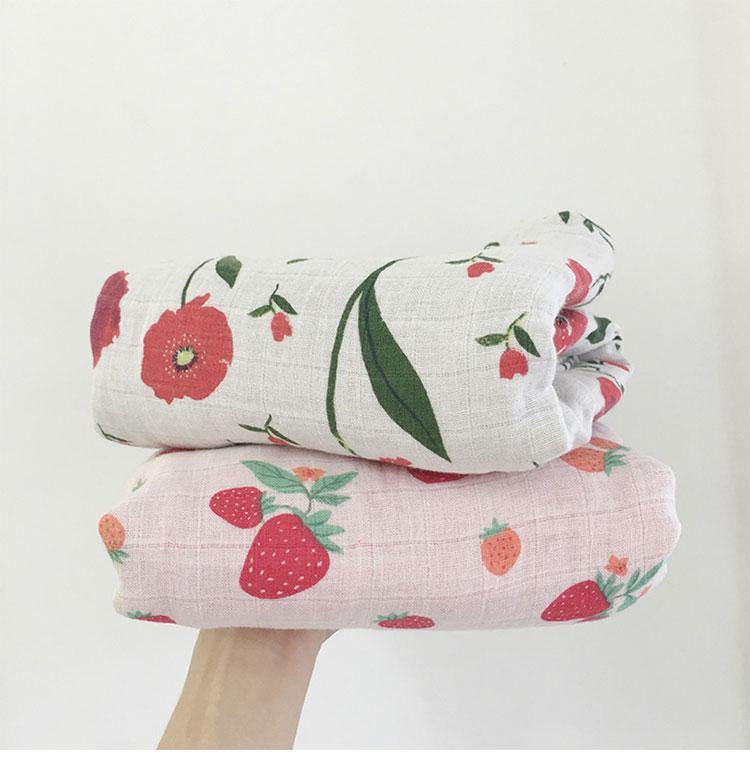 ⑧120x120 cm bebé recién nacido swaddle WRAP manta 4 capas algodón ...