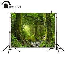 Allenjoy fotografia vinil fundo Da Floresta antiga clássico planta rio festival verde profissional pano de fundo fotográfico