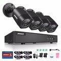 Annke 4ch sistema de seguridad de vídeo hd-1080n tvi dvr y (4) de mal tiempo de interior/exterior cámaras con visión nocturna del ir led
