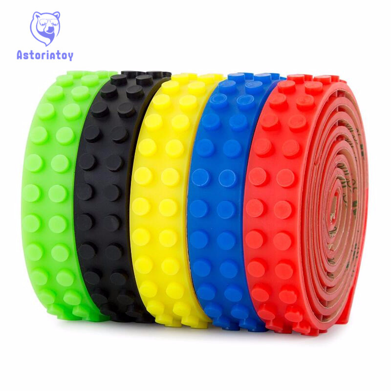 Building block tape Strip sticker 100cm Bendable Flexible soft tape Plate for Small Brick Compatible with legoe toy for children biqu 10pcs 300mm 300mm red 3d printer heatbed bed tape sticker build plate tape 3d0334
