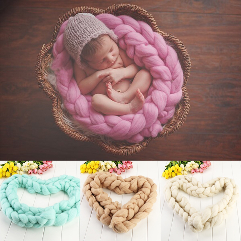 1Pcs Wool Fiber Blanket 400cm Basket Filler Basket Stuffer Newborn Photography Background Props Baby Shower Gift