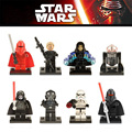 8 pcs Star Wars Storm Trooper R2D2 Darth Nihilus Palpatine legoINGlys Piloto Empate Mini Blocos Starwars Clone Figuras Toy Compatível