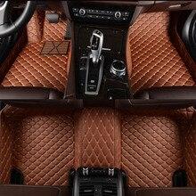 Flaş mat deri araba paspaslar Toyota Corolla Camry için Rav4 Auris Prius Yalis Avensis Alphard 4Runner Hilux highlander ayak