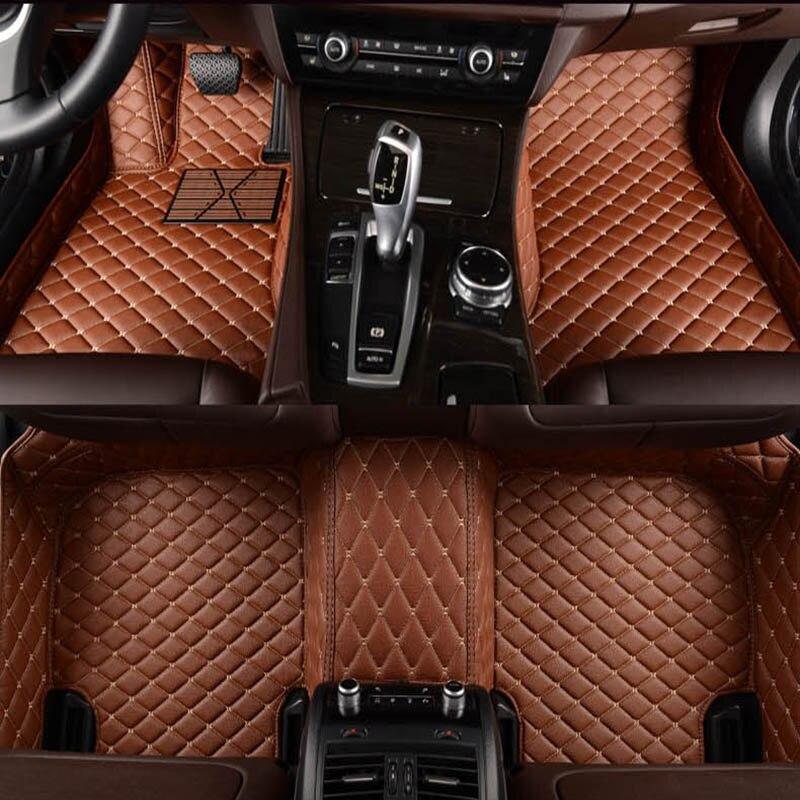 Flash mat de coche de cuero alfombras de piso para Toyota Corolla Camry Rav4 Auris Prius Yalis Avensis Alphard 4 Runner Hilux highlander pie