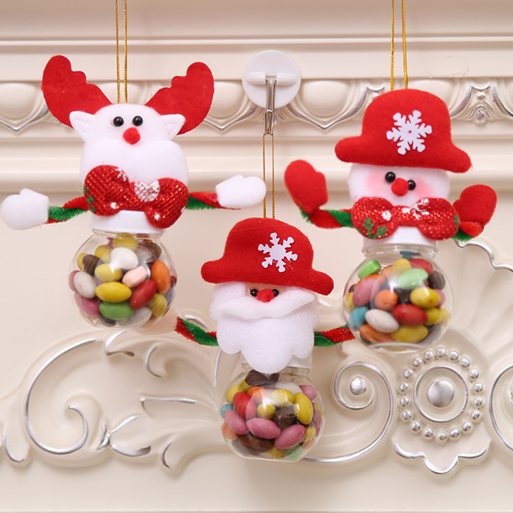 Us 0 83 34 Off Cute Christmas Candy Store Can Decorate Home Gift Biscuits Food Storage Jars Candy Cans Christmas Ornaments Hot Sale M4 In Pendant