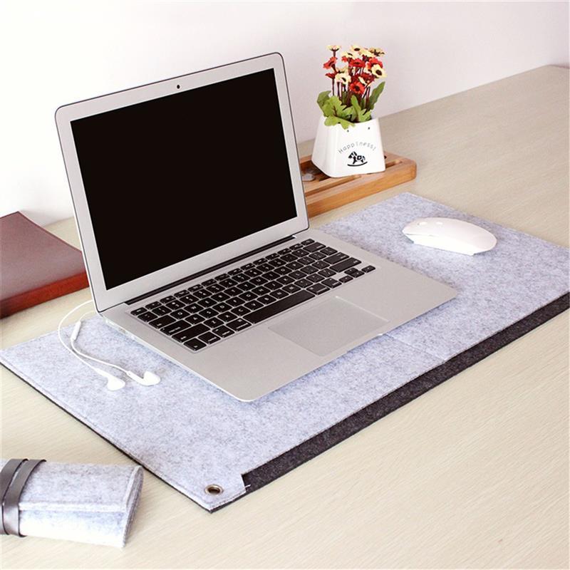 Locking Edge Mouse Pad Large Grey Laptop Keyboard Mat Computer Desk Table Gaming Mice Pa ...