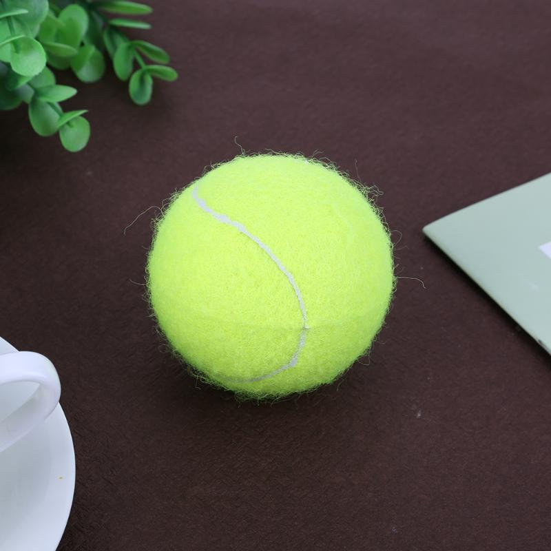 Durable 1PC Outdoor Tennis Sports Training Ball Beginner Training Special Elastic Tennis Ball (No Line) Tennis Sports Balls