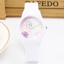 2017 New Fashion Popular Cartoon Pretty Girl's Watch Quartz Watch Children Watch Waterproof Sport Jelly Watch Wristwatch(China)