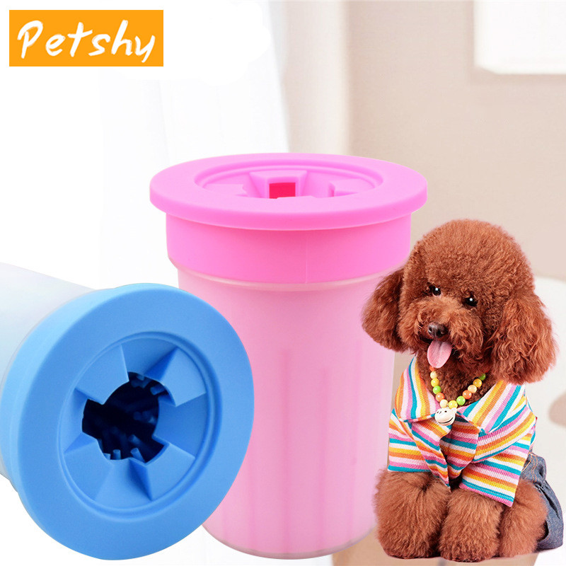Petshy Soft Silicone Pet Foot Washer Cup Dog Cat Paw Foot Massage Cleaner Wash Brush Cup