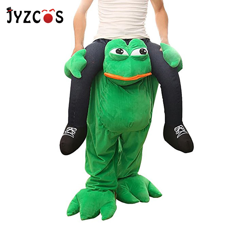 JYZCOS Adult Frog Pants Party Fancy Dress Costume Ride On Me Costume Walking Animal Pants Purim Halloween Cosplay Costume