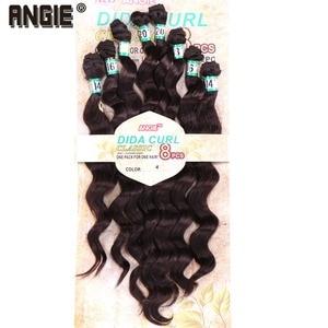 """Image 5 - 14 """"16"""" 18 """"20"""" סינטטי גלי מתולתל שיער Weave חבילות 8 יח\חבילה סינתטיות עבור נשים"""