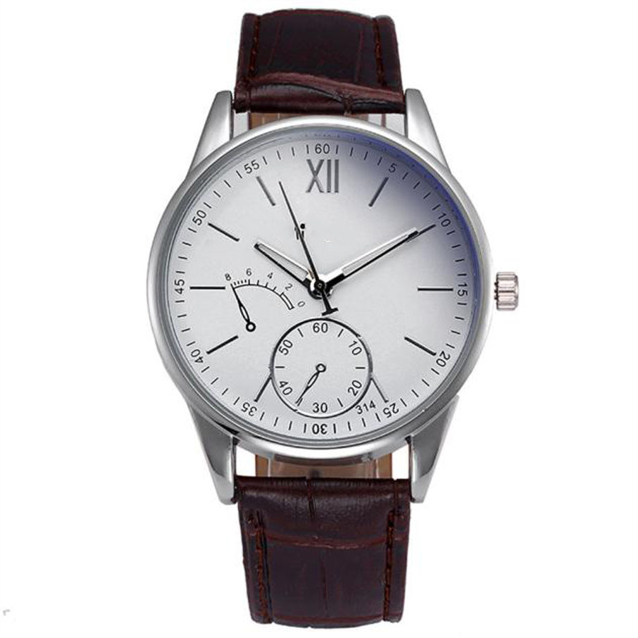 Drop shipping fashion casual watches Men Crocodile Faux Leather Band Wristwatch Mens Quartz Analog Watch Wrist Watches Clock paidu fashion men wrist watch casual round dial analog quartz watch roman number faux leatherl band trendy business clock