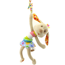 Baby Rattle Toys Stroller Hanging Musical Toys Animal Shaped Educational Toys Pull Shock Rattles
