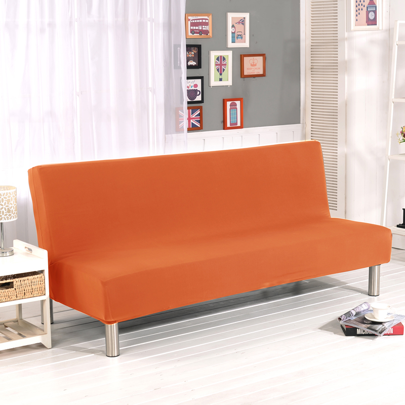 Stretch Sofa Decken Elastischen Ohne Arm Couch Abdeckung Hussen Gnstige Covers Fr Wohnzimmer Orange