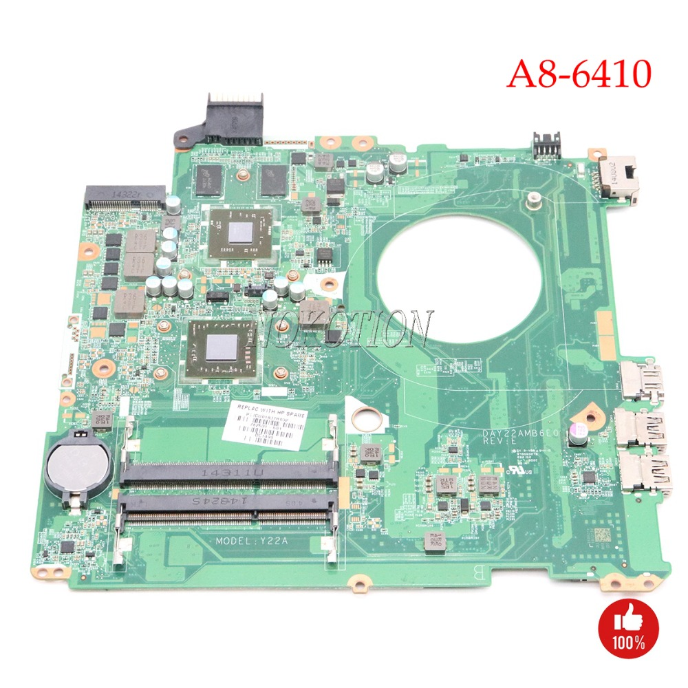 NOKOTION 762531-001 762531-501 Материнская плата для ноутбука HP Pavilion 15-p серии DAY22AMB6E0 REV: E A8-6410 Процессор 2 ГБ GPU основная плата