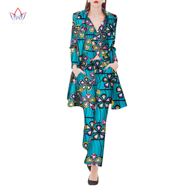 5416e31ff67b2 2019 Autumn three Piece Casual Set Wax Top Pant and Vest Suits African 6xl  africa Cotton regular Clothing woman Plus Size WY2040