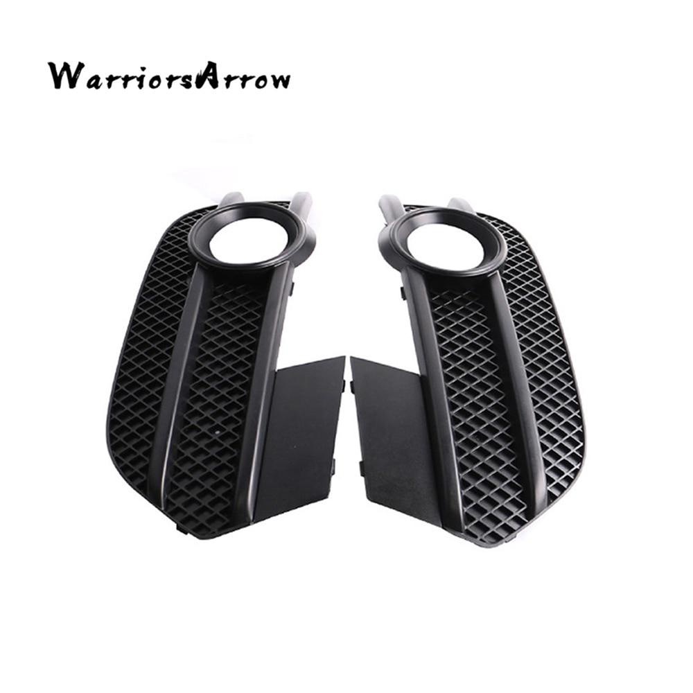 WarriorsArrow Pair Front Bumper Fog Light Grille Cover Cap L R For Audi Q3 2012 2013