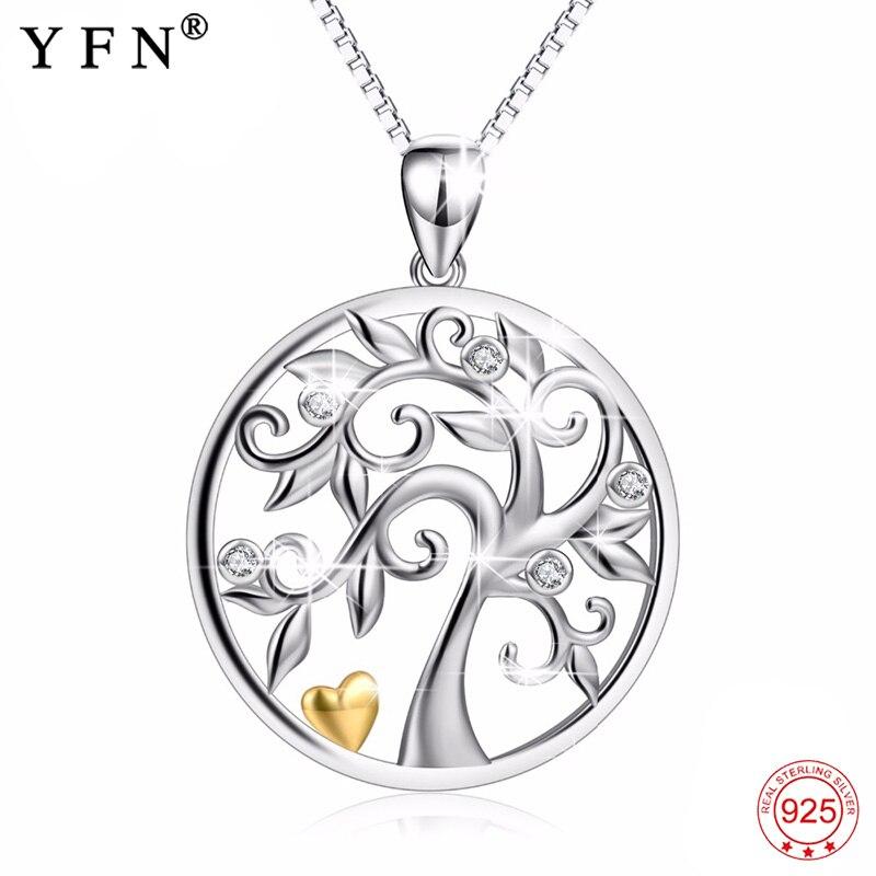 b8fae9a0fb0c Plata de Ley 925 collar Árbol de la vida de clásico colgantes collares  joyería encantadora y accesorios para las mujeres mejores regalos PYX0670