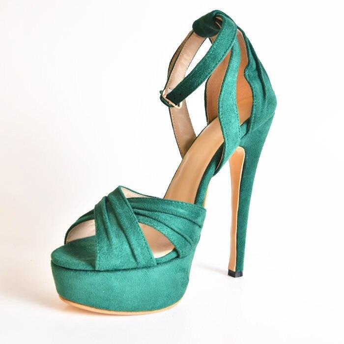 Elagant Suede font b Women s b font Stiletto Heel Platform font b Sandals b font
