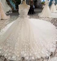 2019 на заказ цвета слоновой кости свадебное платье с бисером интимное милое платье Часовня Поезд Кристалл классическое свадебное платье жен