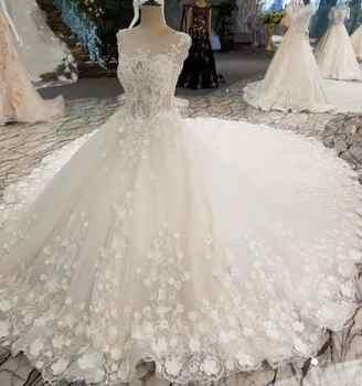 2019 Custom Ivory Wedding Dress Beaded Intimate Sweetheart Dress Chapel Train Crystal Classic Bridal Gown Women Wedding Dress - DISCOUNT ITEM  20% OFF All Category
