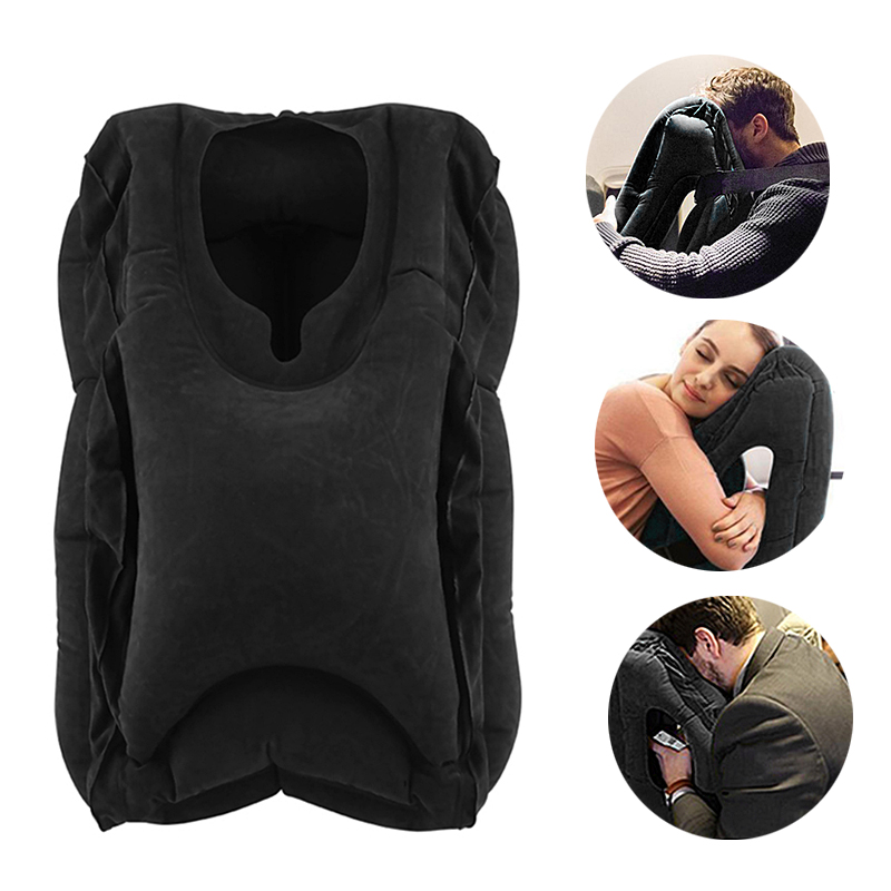 mi kkie turystyczna nadmuchiwana poduszka neck pillow wygodne podr e samolot powietrza samoch d. Black Bedroom Furniture Sets. Home Design Ideas
