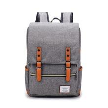 Купить с кэшбэком Vintage Laptop Backpack Classic Kanken Women' Men' Backpack Students Fashion Travel Bags Large Capacity Korean Style Backpack