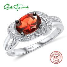Серебряные кольца для женщины гранат белые кубического циркония камни кольца из стерлингового серебра 925 ювелирные изделия