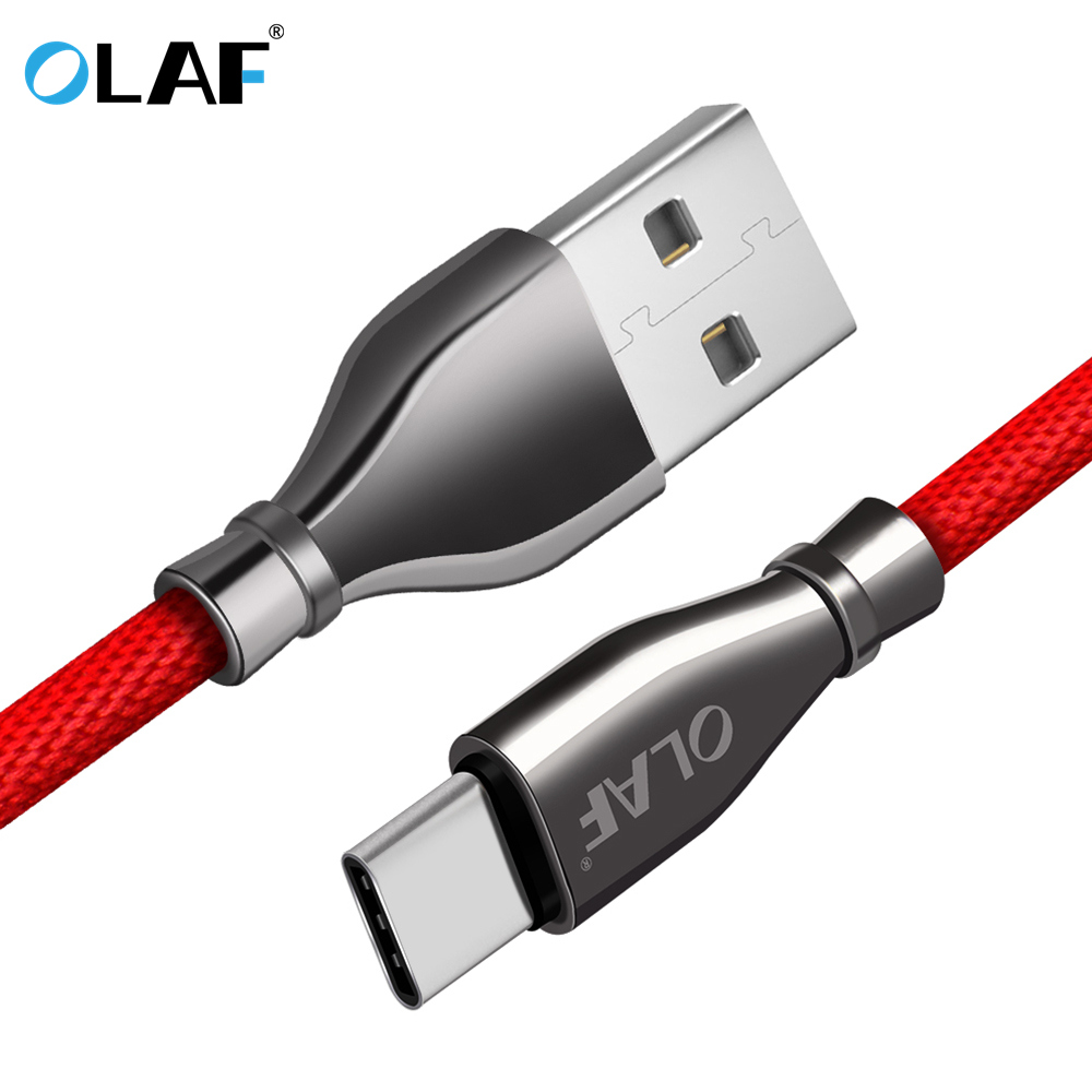 Olaf 2.1A Usb Sort C Quick Charging Cable For Huawei Mate 20 P20 Professional For Xiaomi Mi eight Usb Sort C Twine Cable For Samsung S9 S8 Plus