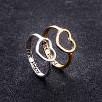 Anillos de boda con corazón para joyería de oro de mujeres calidad simulada anillo de cristal amor joyería al por mayor