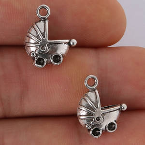 Beadia 6pcs Antique silver Baby Charms Pendant Making
