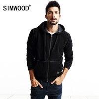 SIMWOOD 2016 New Autumn Winter New Men Zipper Coats Jacket Sweatshirts Cardigan Hoodies Cotton WY8016