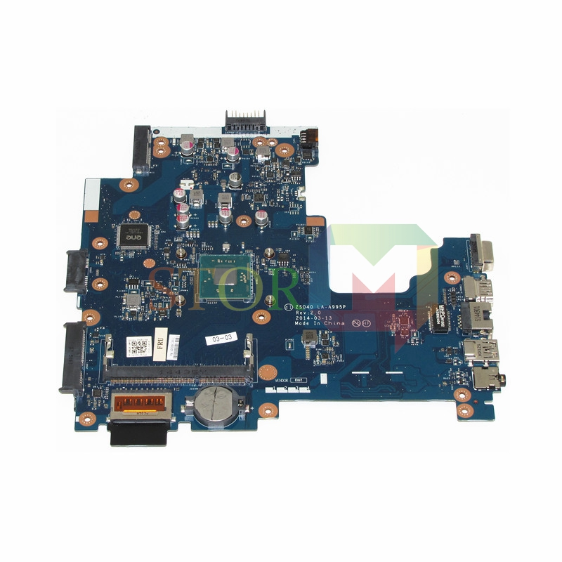 NOKOTION for hp 240 g3 14-r laptop motherboard 788004-501 la-a995p rev 2.0 with pentium n2840 CPU On Board DDR3L