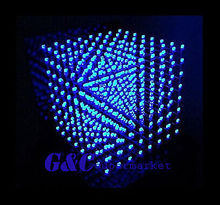 3D LightSquared DIY Kit 8x8x8 3 мм LED Cube Blue Ray LED